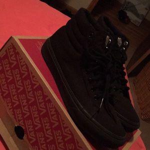 Vans Shoes - Black Leather Classic Vans
